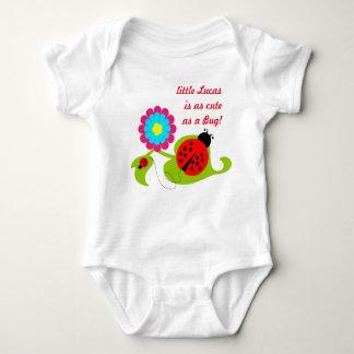 Säuglings-Strampler-weiße Dame Bug Baby Strampler