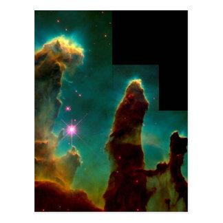 Säulen der Schaffung - Hubble Postkarte