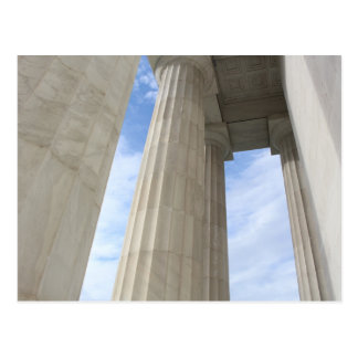 Säulen, die das Lincoln Memorial umgeben Postkarte