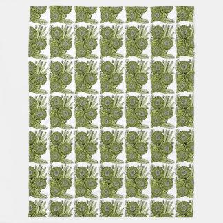 Saurer grüner fleecedecke