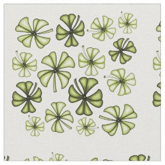 Saurer grüner glücklicher Kleeblatt-Klee Stoff