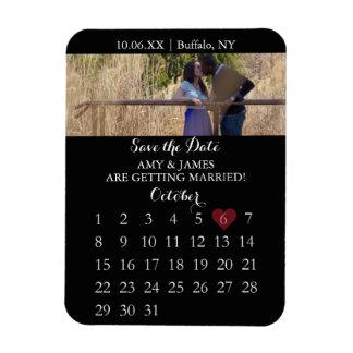 Sauvez l'aimant de date - le calendrier de photo magnet souple