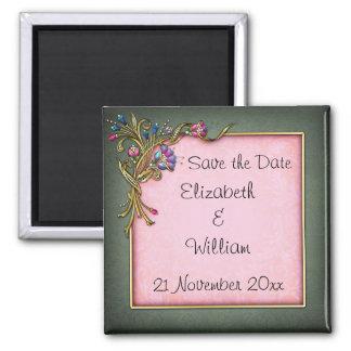 Sauvez l'aimant de date magnet carré