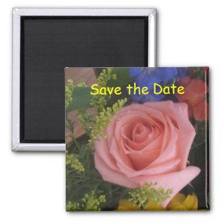 Sauvez l'aimant rose de date