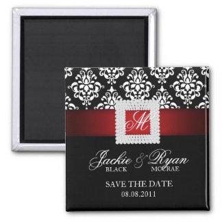 Sauvez le blanc noir rouge de broche de bijou magnet carré