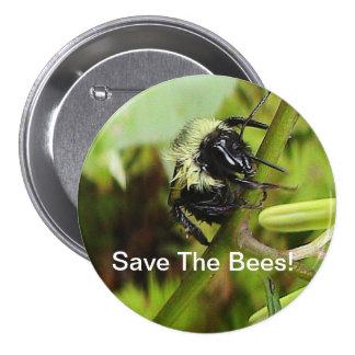 Sauvez le bouton d'abeilles pin's avec agrafe