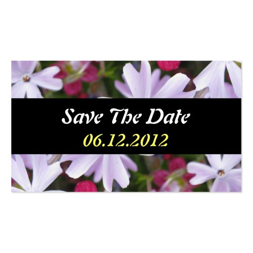 Sauvez le carte de visite de fleur de date