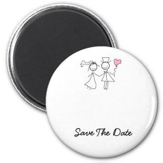 Sauvez le magnet de mariage de date aimants