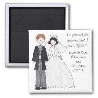 Sauvez le magnet de mariage de date magnets