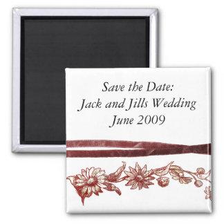 sauvez le magnet de mariage de date magnet carré