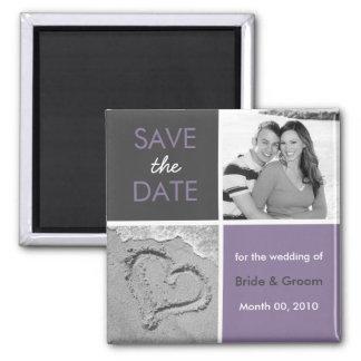 Sauvez le magnet de photo de date magnet carré