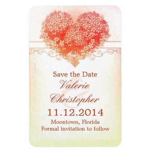 sauvez le magnet rouge vintage de coeur d'amour de