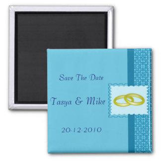 Sauvez le mariage d'aimant de date magnet carré