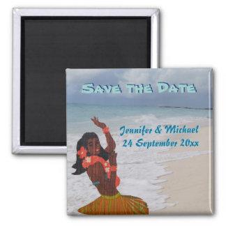 Sauvez le mariage hawaïen de date magnets pour réfrigérateur