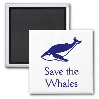 Sauvez les baleines magnets pour réfrigérateur