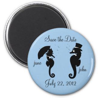 Sauvez les hippocampes de date épousant l'aimant magnet rond 8 cm