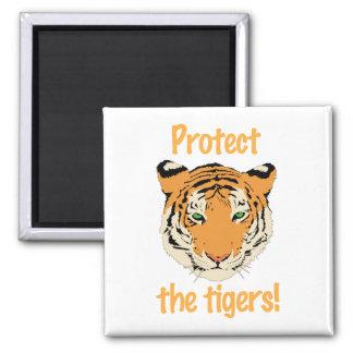 Sauvez les tigres - aimant