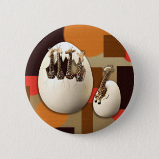 Savanne-Art Runder Button 5,7 Cm