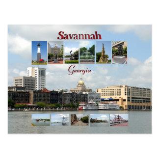 Savanne, Georgia-Postkarte Postkarte