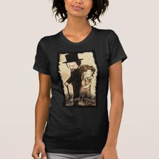 """Savanne Moore--- Twofer mittlerer blauer """"Lydia T-Shirt"""