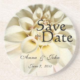 Save the Date Blumen-Blumengarten Getränkeuntersetzer