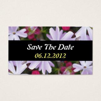 Save the Date Blumen-Geschäfts-Karte Visitenkarten