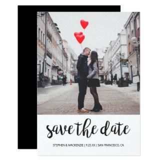 Save the Date | Foto 12,7 X 17,8 Cm Einladungskarte