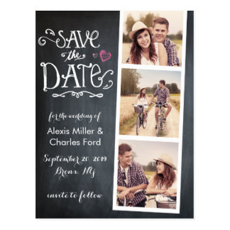 Save the Date | gebogene Art Tafel-Postkarte Postkarte