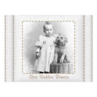 Save the Date genähtes Wiedersehen-Album Postkarten