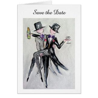 Save the Date Herr und Herr Wedding Invitation Karte