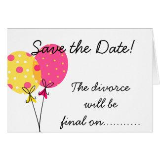 Save the Date ist Scheidung abschließend Karte