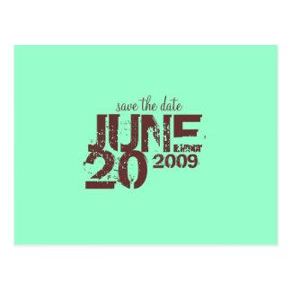 Save the Date JUNI - besonders angefertigt Postkarte