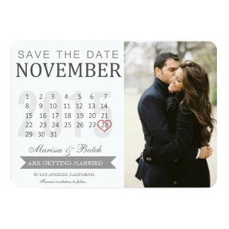 Save the Date Kalender-Mitteilungen Wedding | Karte