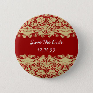 Save the Date Knopf-Personalizable Text Runder Button 5,1 Cm