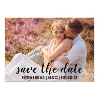 Save the Date kündigen Paar-Foto-Verlobung BT an Karte