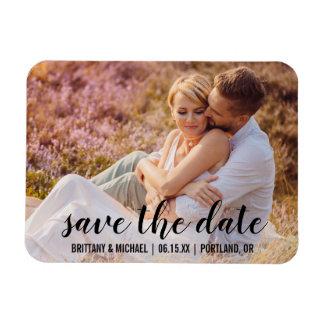 Save the Date kündigen Paar-Foto-Verlobung BT an Magnet