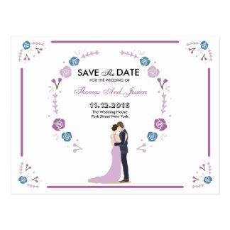 Save the Date Mitteilungs-Postkarte Postkarte