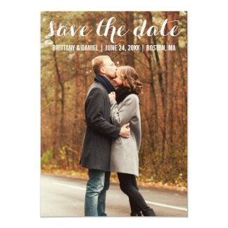 Save the Date moderne Verlobungs-Karte WBL Karte