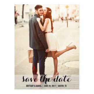 Save the Date moderne Verlobungs-Postkarte L Postkarte