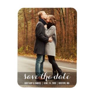 Save the Date moderner Verlobungs-Magnet LWB Magnet