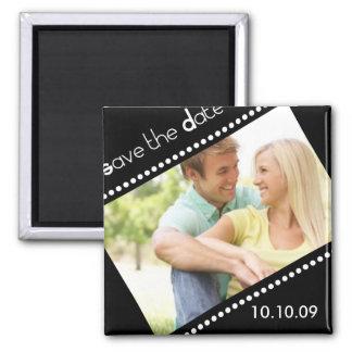 Save the Date quadratischer Magnet