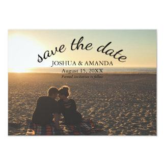 Save the Date romantisches Skript des Foto-| 12,7 X 17,8 Cm Einladungskarte