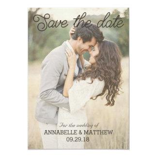 Save the Date rustikale Einladung Vintag