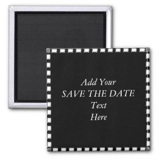 SAVE THE DATE SCHAFFEN Magneten IHRE SELBST Quadratischer Magnet