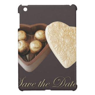 Save the Date Schokoladen-Herzen iPad Mini Etuis