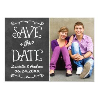 Save the Date schwarzer Tafel-Charme der Karten-  12,7 X 17,8 Cm Einladungskarte