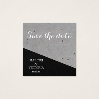 Save the Date städtische Schwarzweiss-Hochzeit Quadratische Visitenkarte