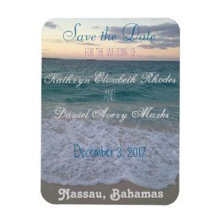 Save the Date Strand-Hochzeit Vinyl Magnet