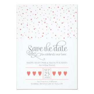 Save the Date süßer Confetti 12,7 X 17,8 Cm Einladungskarte