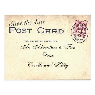 Save the Date Vintage Postkarte